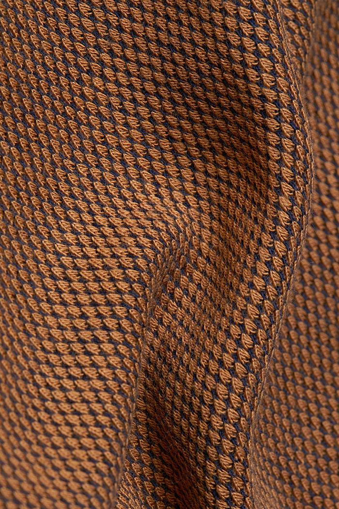 Textured sweatshirt, 100% organic cotton, BARK, detail image number 4