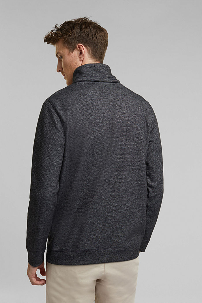 Recycled: Polo neck long sleeve top, organic cotton, ANTHRACITE, detail image number 3