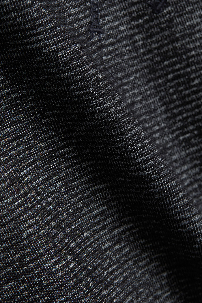 Recycled: Polo neck long sleeve top, organic cotton, ANTHRACITE, detail image number 4