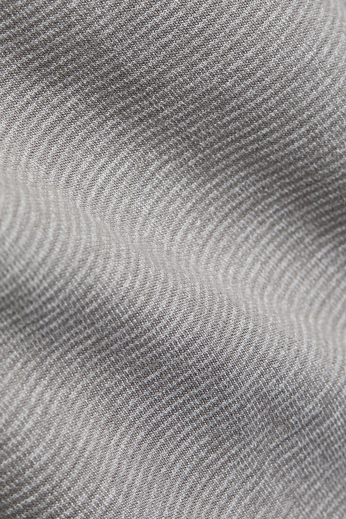 Recycled: Polo neck long sleeve top, organic cotton, LIGHT GREY, detail image number 4