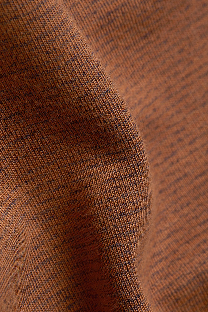 Recycled: Polo neck long sleeve top, organic cotton, BARK, detail image number 4