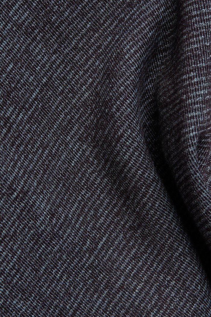 Recycled: Polo neck long sleeve top, organic cotton, NAVY, detail image number 4
