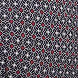 Minimalist print padded underwire bra, BLACK, swatch