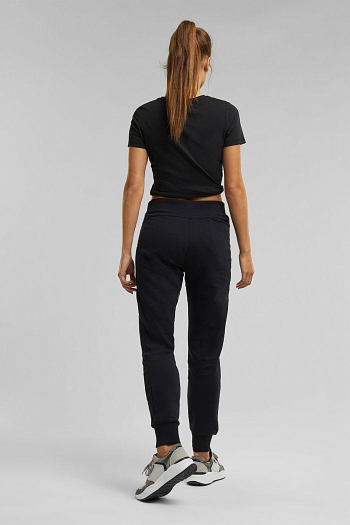 Sweatshirt tracksuit bottoms made of organic cotton, BLACK, detail image number 3