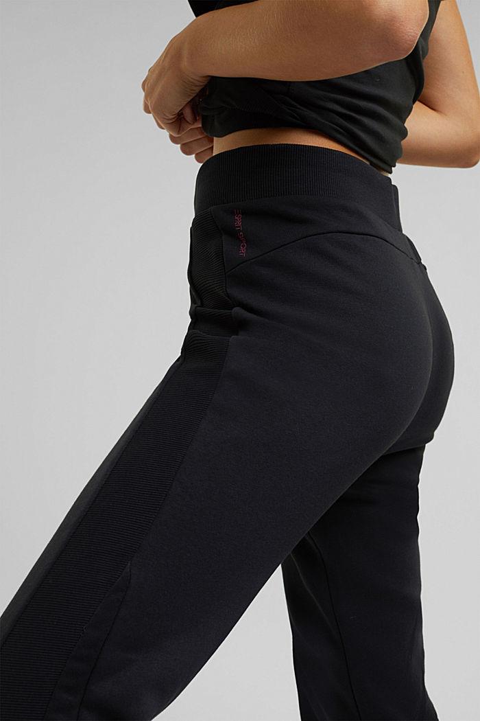 Sweatshirt tracksuit bottoms made of organic cotton, BLACK, detail image number 2