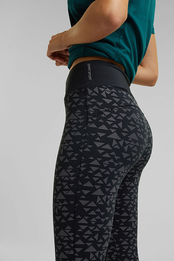 Active leggings with E-DRY, BLACK, detail image number 2