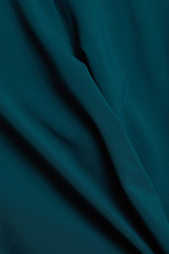 Active leggings with E-DRY, DARK TEAL GREEN, detail image number 4