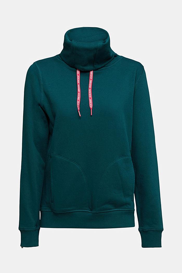 Sweater mit Organic Cotton, DARK TEAL GREEN, detail image number 6