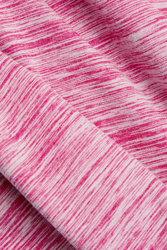 Mottled hooded sweatshirt with E-DRY, PINK FUCHSIA, detail image number 4