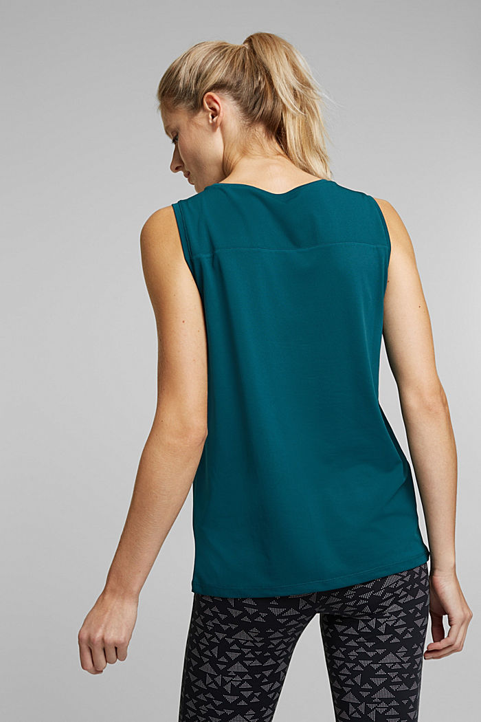 Tank Top mit E-DRY, DARK TEAL GREEN, detail image number 3