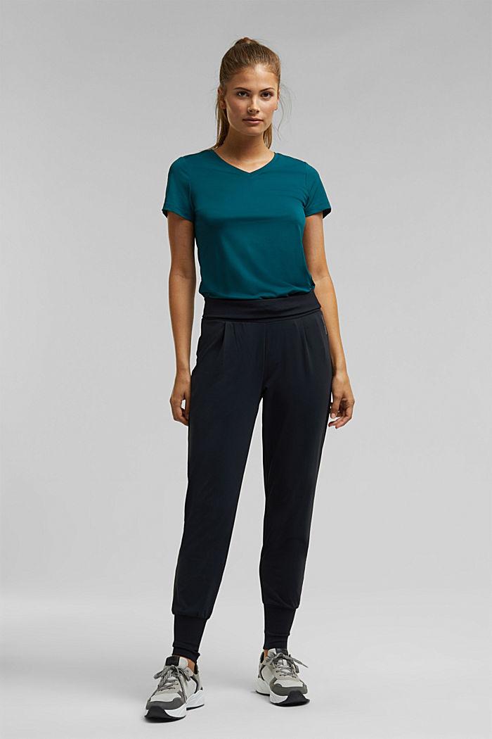 Aktivní tričko, E-DRY, DARK TEAL GREEN, detail image number 1