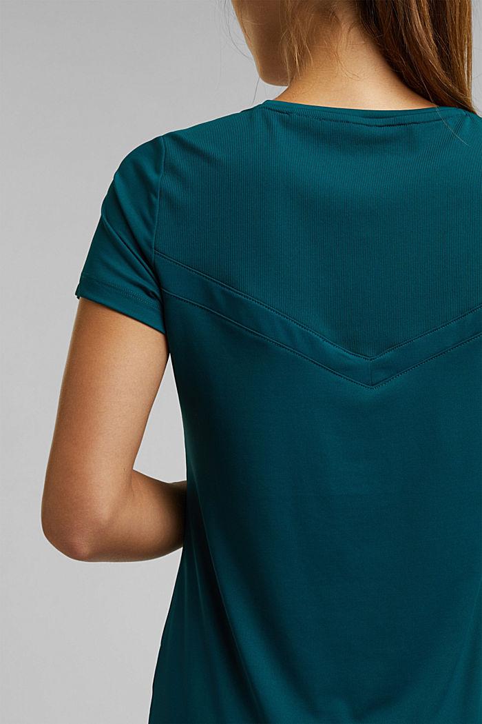 Aktivní tričko, E-DRY, DARK TEAL GREEN, detail image number 2