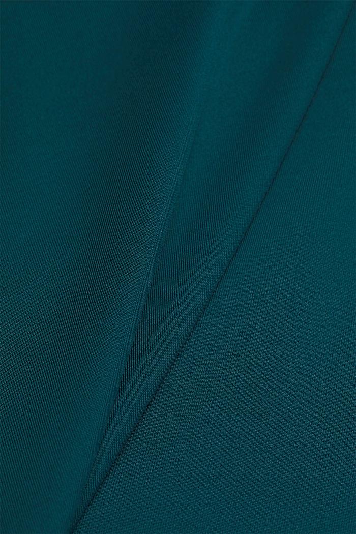 Aktivní tričko, E-DRY, DARK TEAL GREEN, detail image number 4