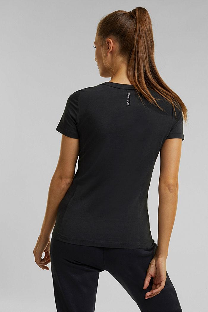 Organic cotton-jersey T-shirt, BLACK, detail image number 3