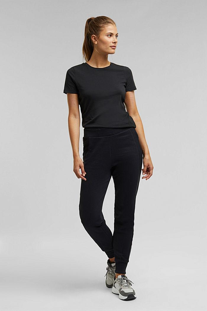 Organic cotton-jersey T-shirt, BLACK, detail image number 1