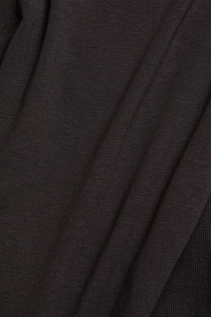 Organic cotton-jersey T-shirt, BLACK, detail image number 4