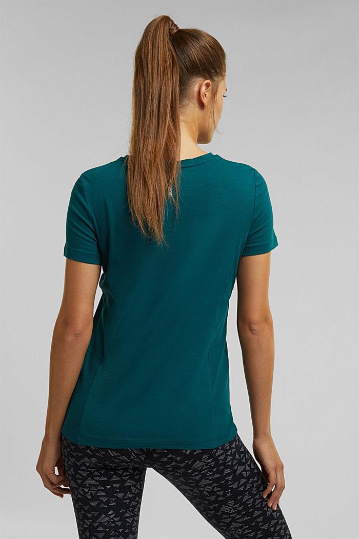 Jersey shirt met biologisch katoen, DARK TEAL GREEN, detail image number 3