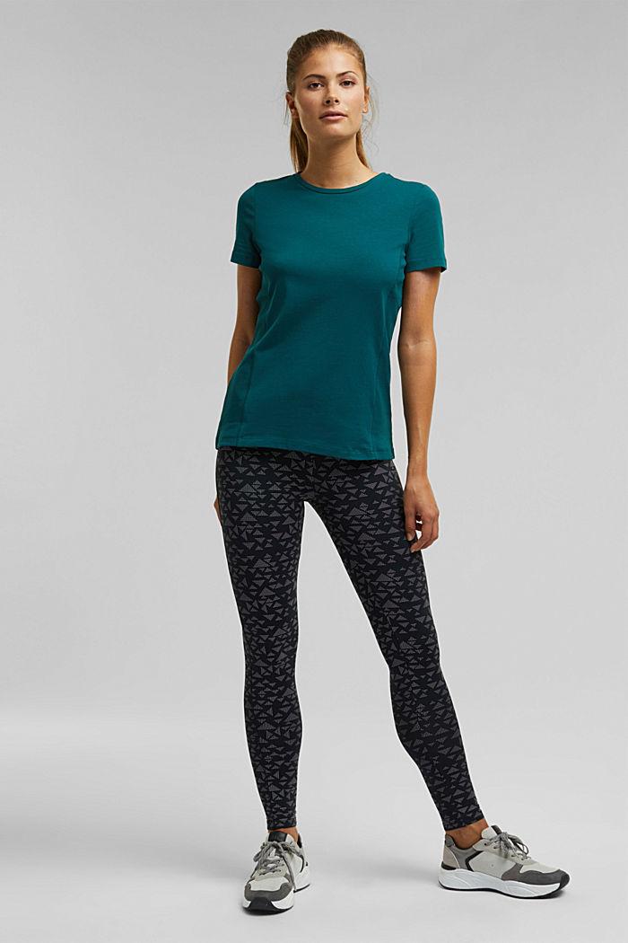 Jersey shirt met biologisch katoen, DARK TEAL GREEN, detail image number 1