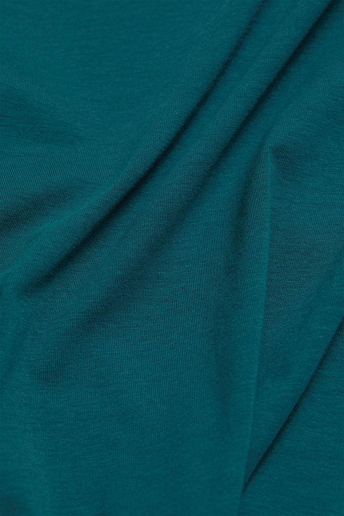 Jersey shirt met biologisch katoen, DARK TEAL GREEN, detail image number 4