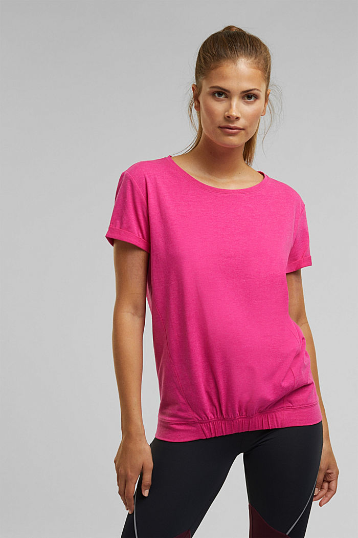 E-DRY top containing organic cotton