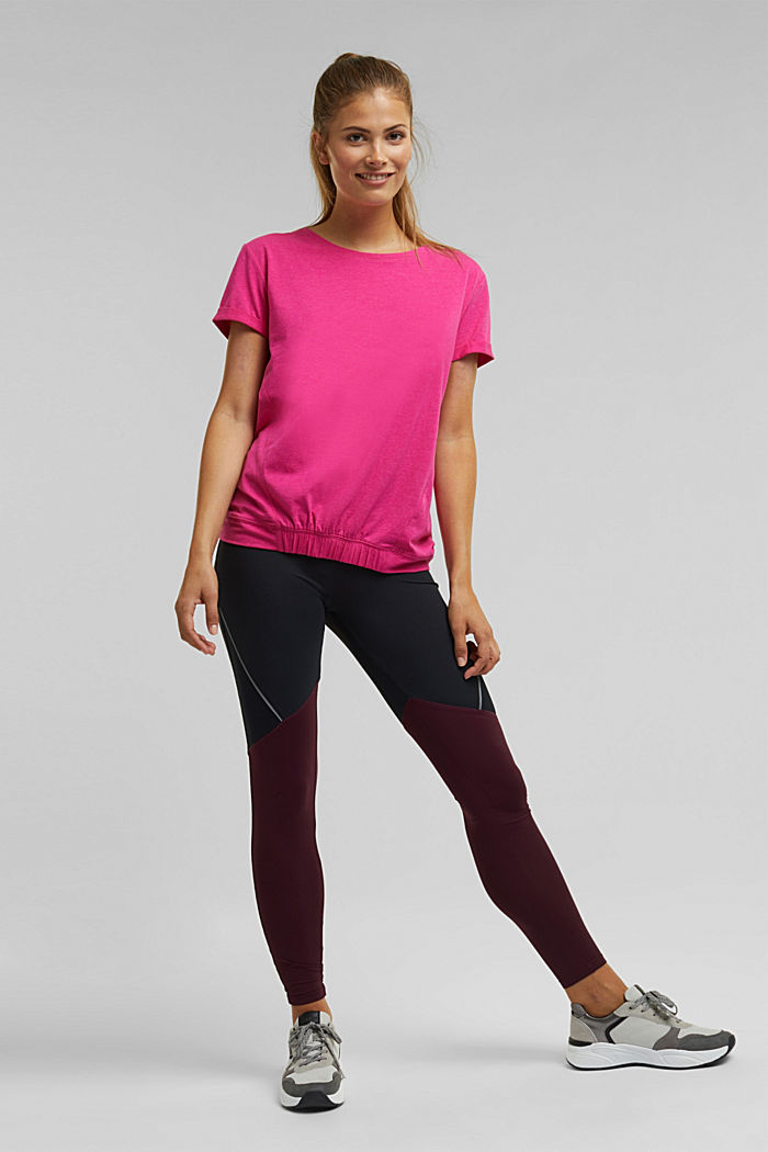 E-DRY top containing organic cotton, PINK FUCHSIA, detail image number 1