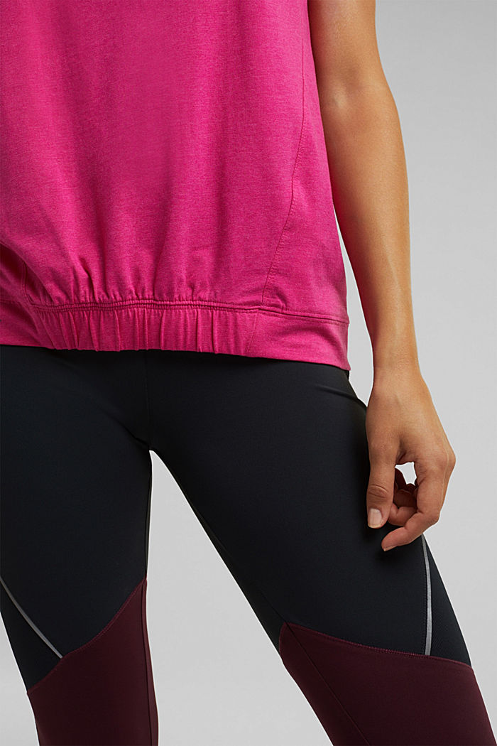 E-DRY top containing organic cotton, PINK FUCHSIA, detail image number 2