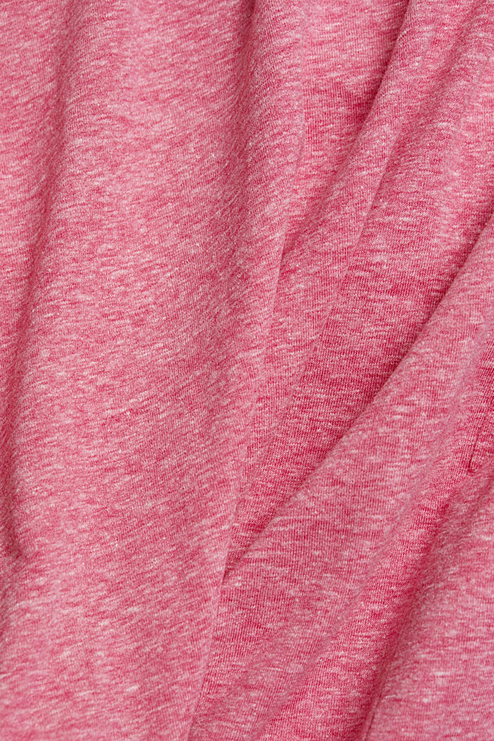 Melange long sleeve top with organic cotton, PINK FUCHSIA, detail image number 4
