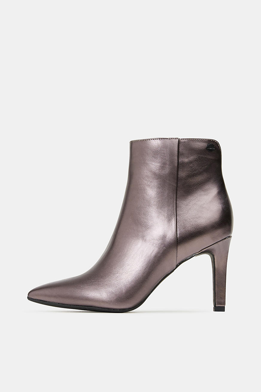 Stiefelette im Metallic-Look