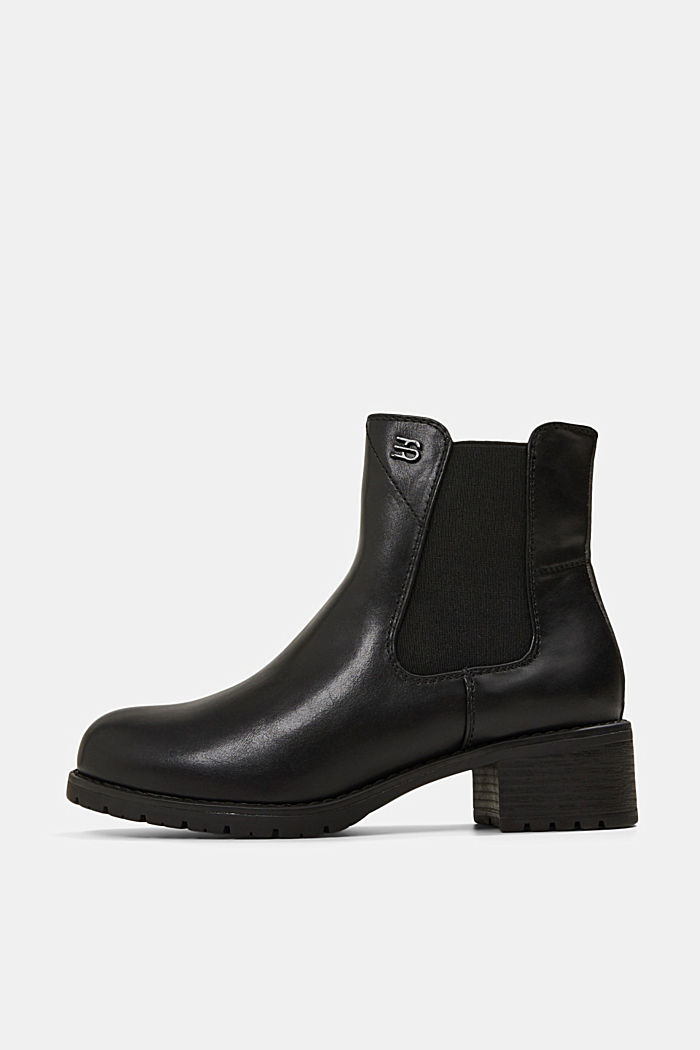 Chelsea boots in faux leather, BLACK, detail image number 0