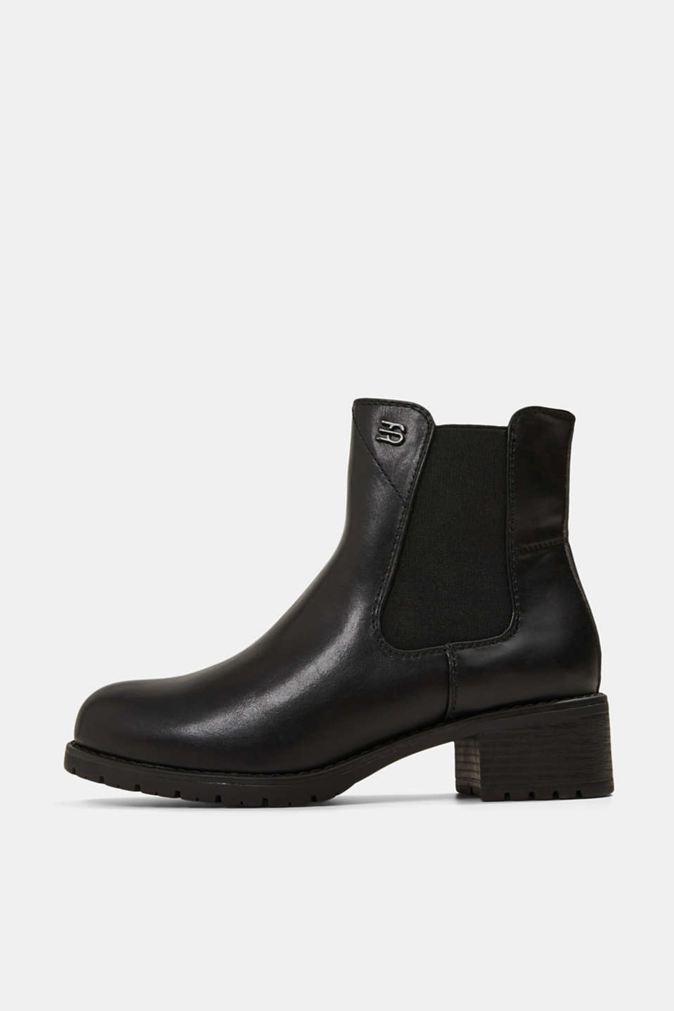 Esprit - Chelsea Boots in Leder-Optik
