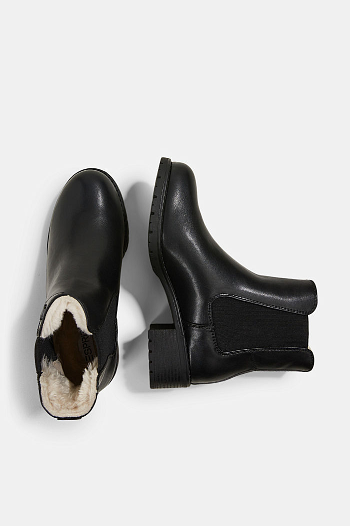 Chelsea boots in faux leather, BLACK, detail image number 1