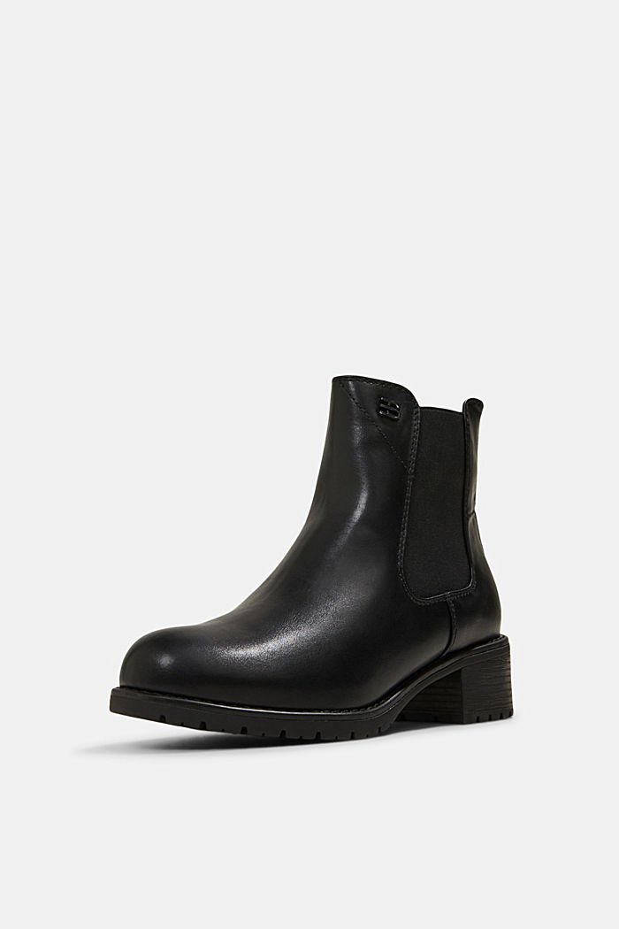 Chelsea boots in faux leather, BLACK, detail image number 2