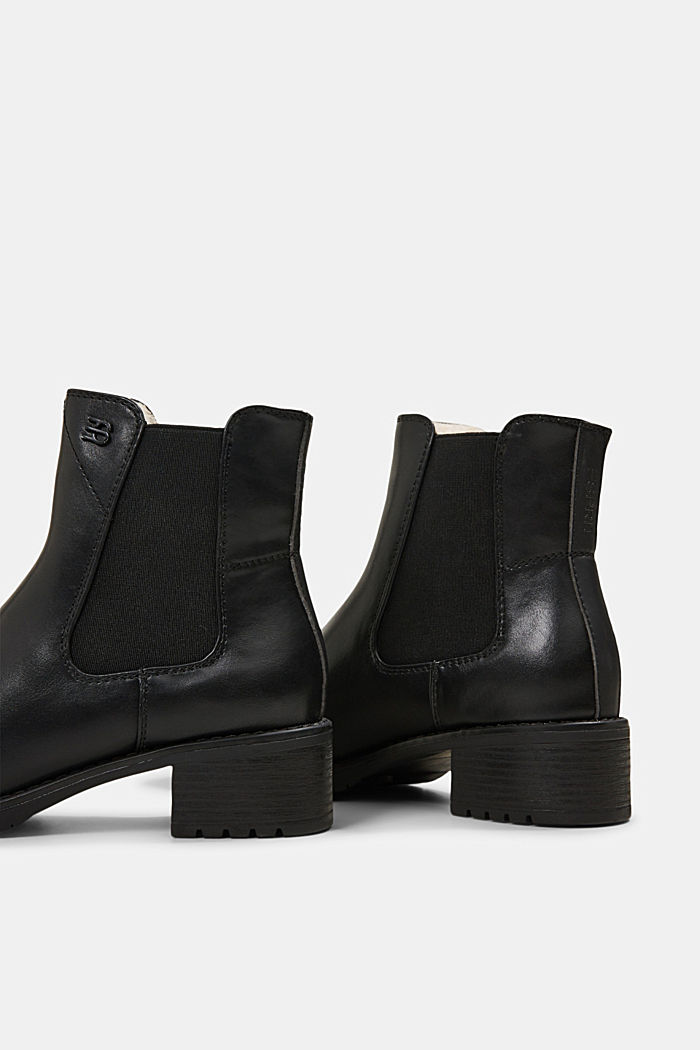 Chelsea boots in faux leather, BLACK, detail image number 5