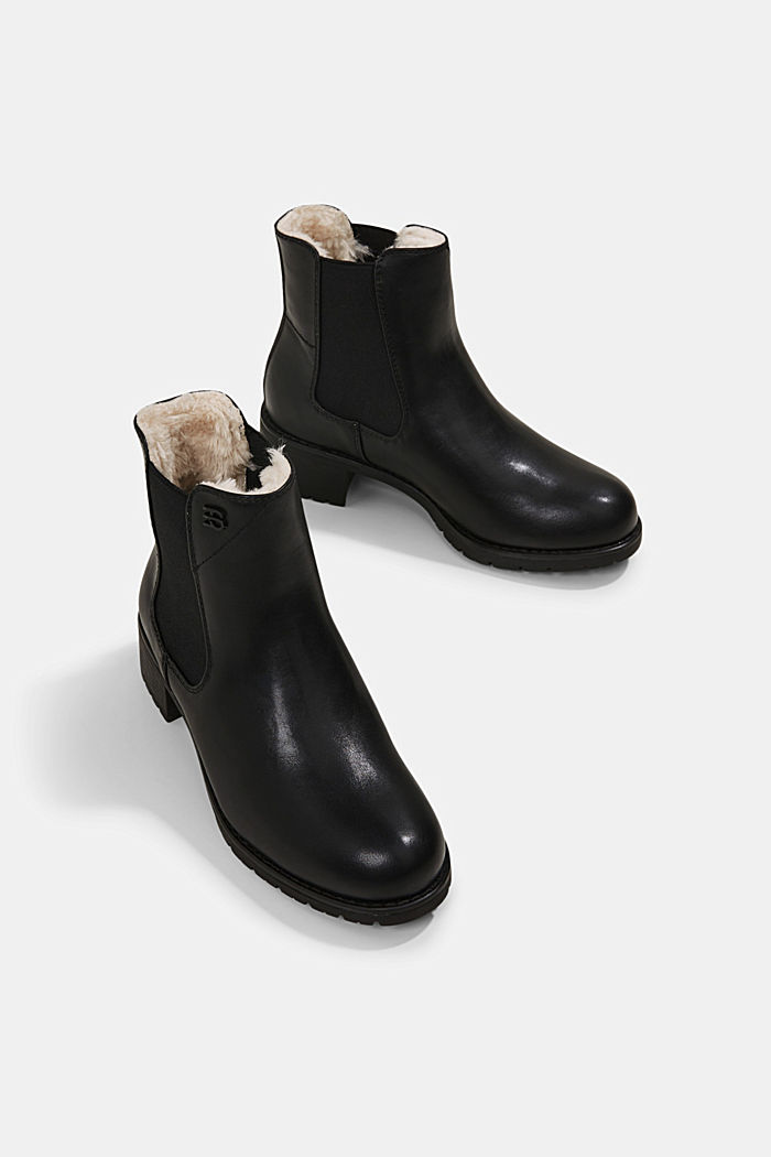Chelsea boots in faux leather, BLACK, detail image number 6