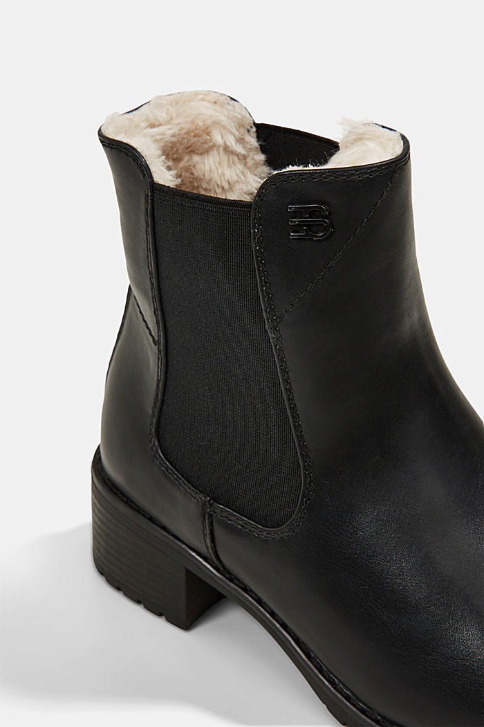 Chelsea boots in faux leather, BLACK, detail image number 4
