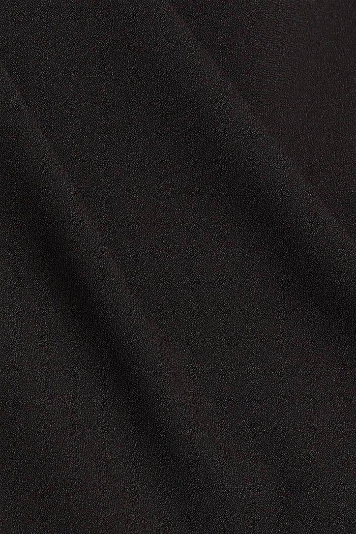 Recycled: Palazzo trousers with a satin waistband, BLACK, detail image number 4