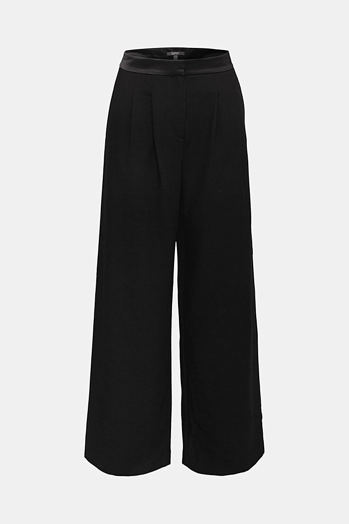 Recycled: Palazzo trousers with a satin waistband