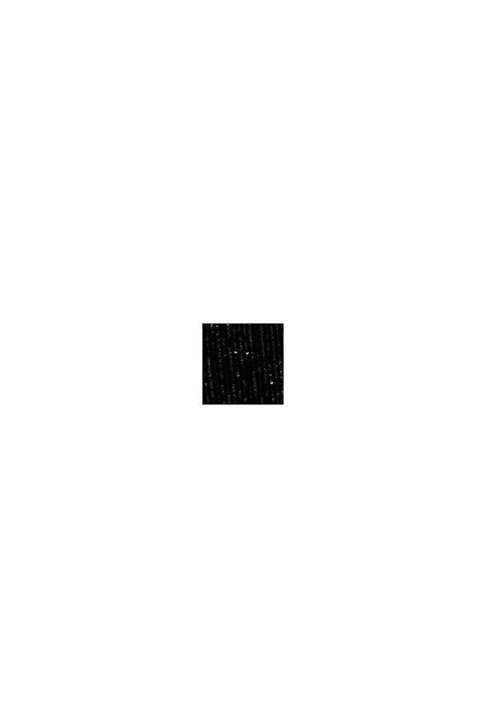 Samt-Hose mit Pailletten, BLACK, swatch