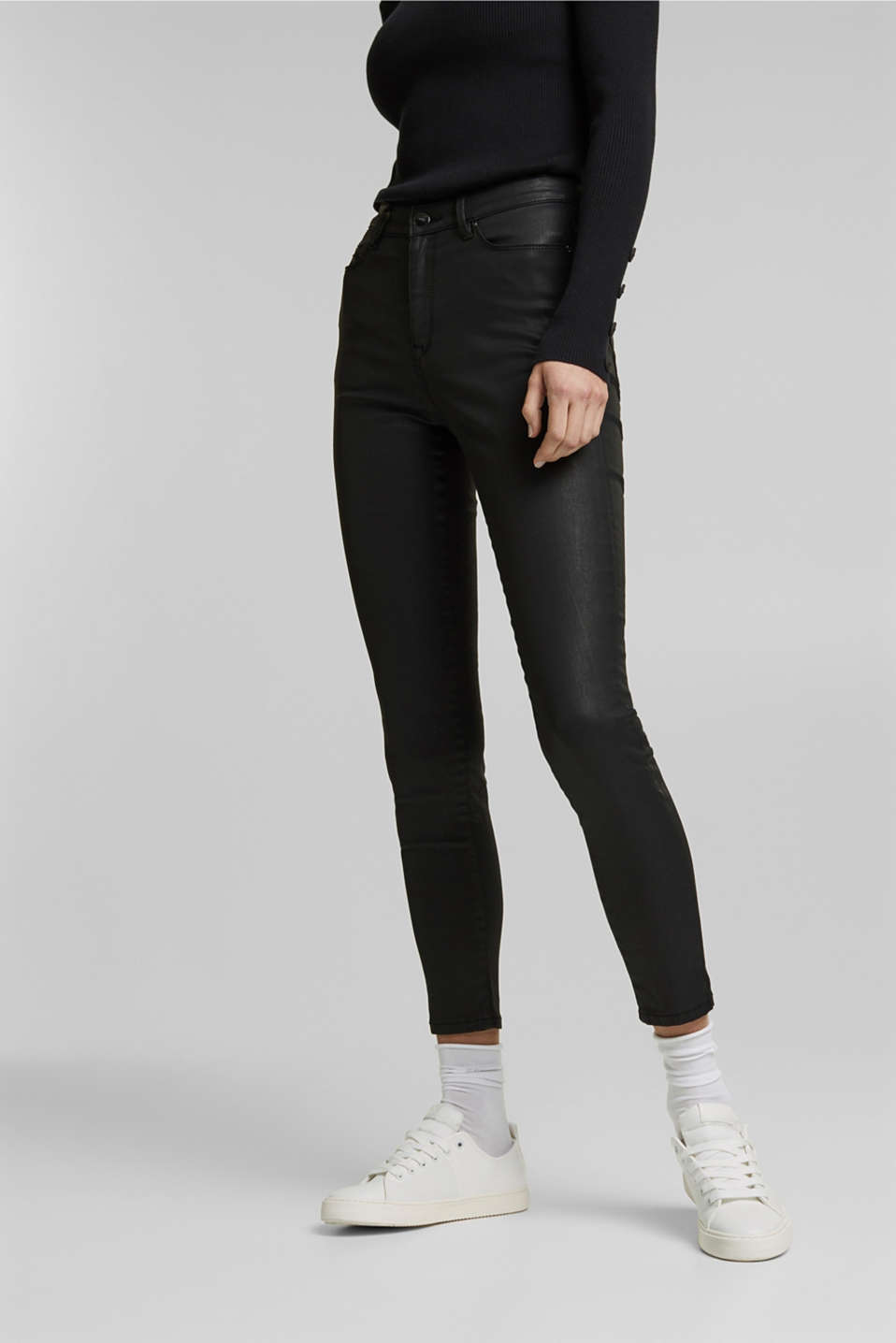 Esprit - Coated stretchjeans