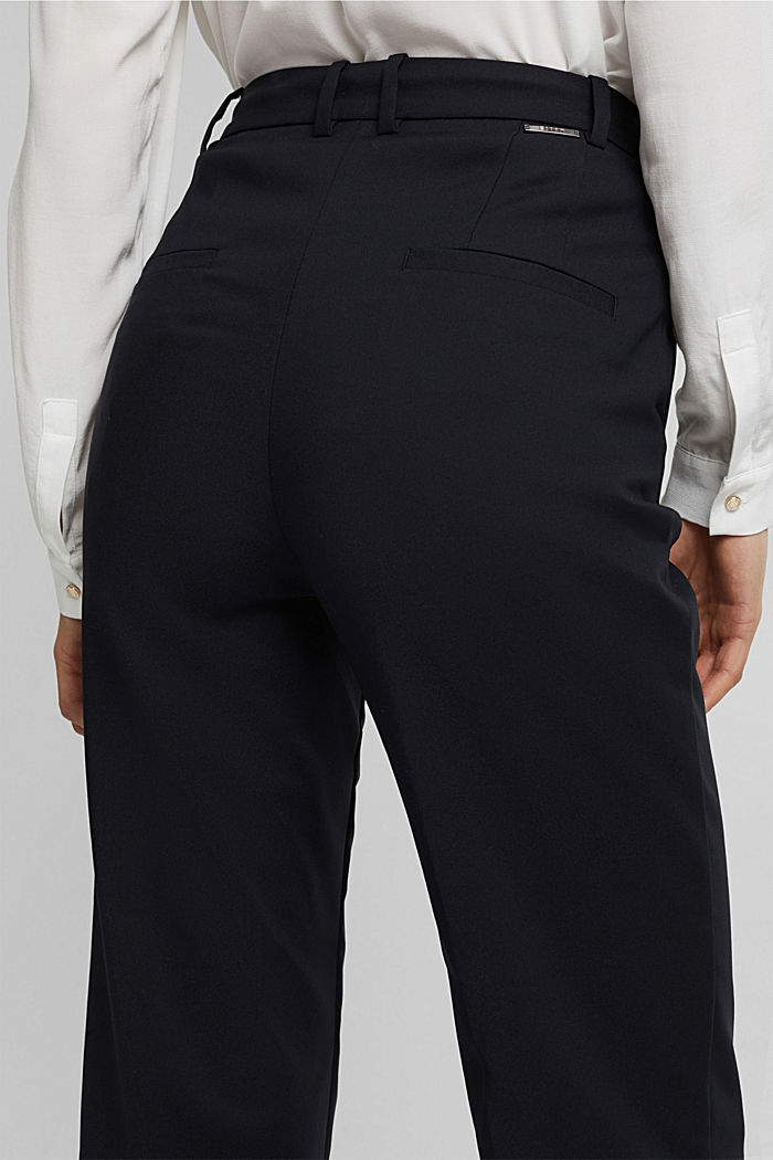 High-rise trousers with organic cotton, BLACK, detail image number 5