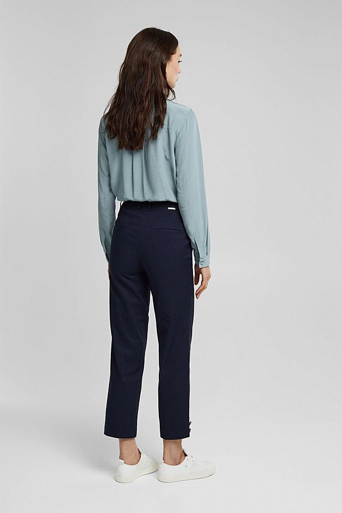 High-Rise-Pants mit Organic Cotton, NAVY, detail image number 3