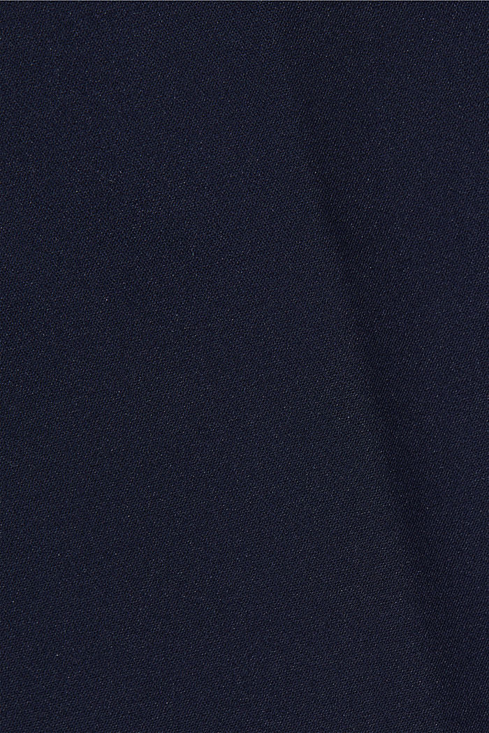 High-rise trousers with organic cotton, NAVY, detail image number 4