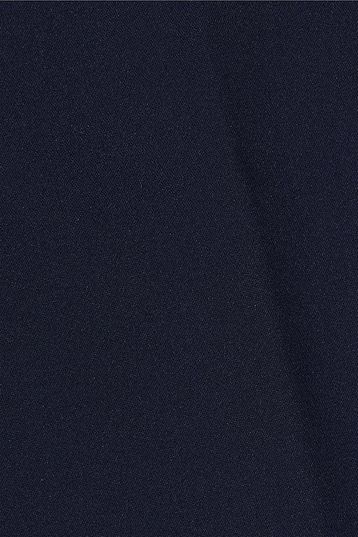 High-Rise-Pants mit Organic Cotton, NAVY, detail image number 4