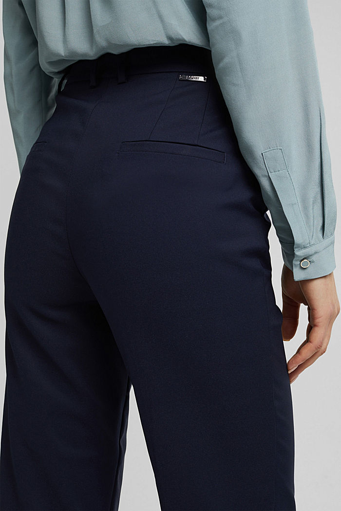 High-rise trousers with organic cotton, NAVY, detail image number 5