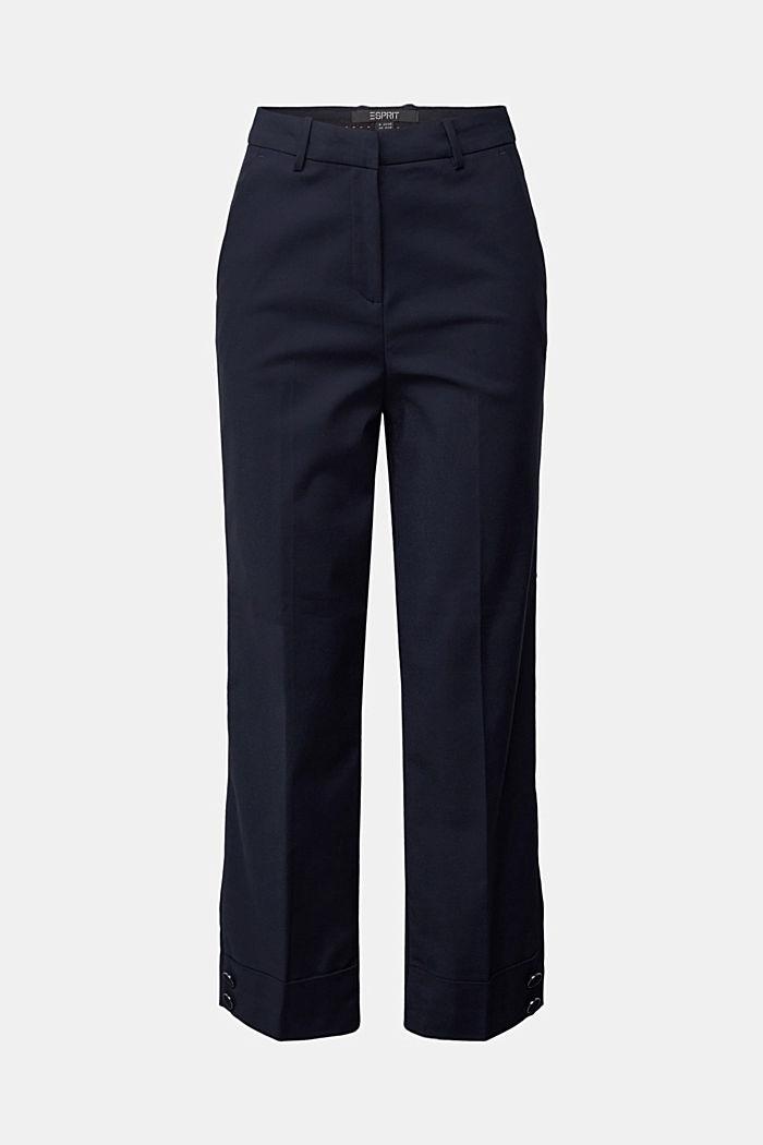 High-Rise-Pants mit Organic Cotton, NAVY, detail image number 6