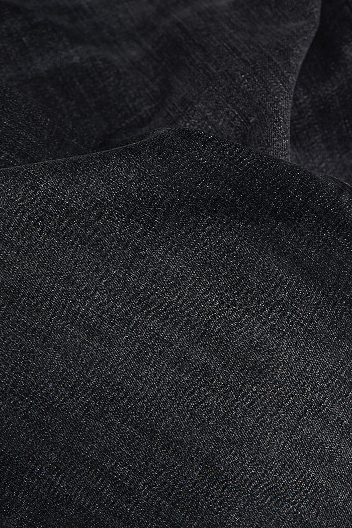 Stretch jeans containing organic cotton, BLACK DARK WASHED, detail image number 4