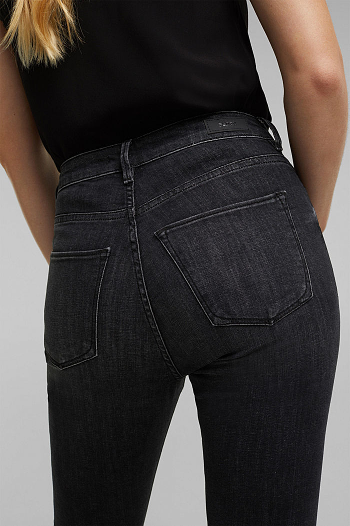 Stretch jeans containing organic cotton, BLACK DARK WASHED, detail image number 5