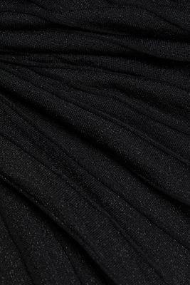 Knitted skirt featuring LENZING™ ECOVERO™, BLACK, detail