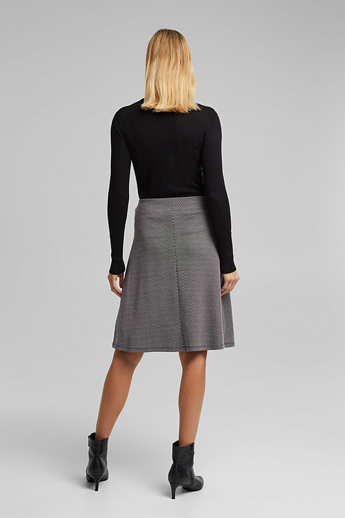 Recycled: Skirt with LENZING™ ECOVERO™, BLACK, detail image number 3