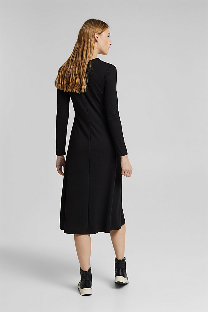 With LENZING™ ECOVERO™: Jersey midi dress, BLACK, detail image number 2
